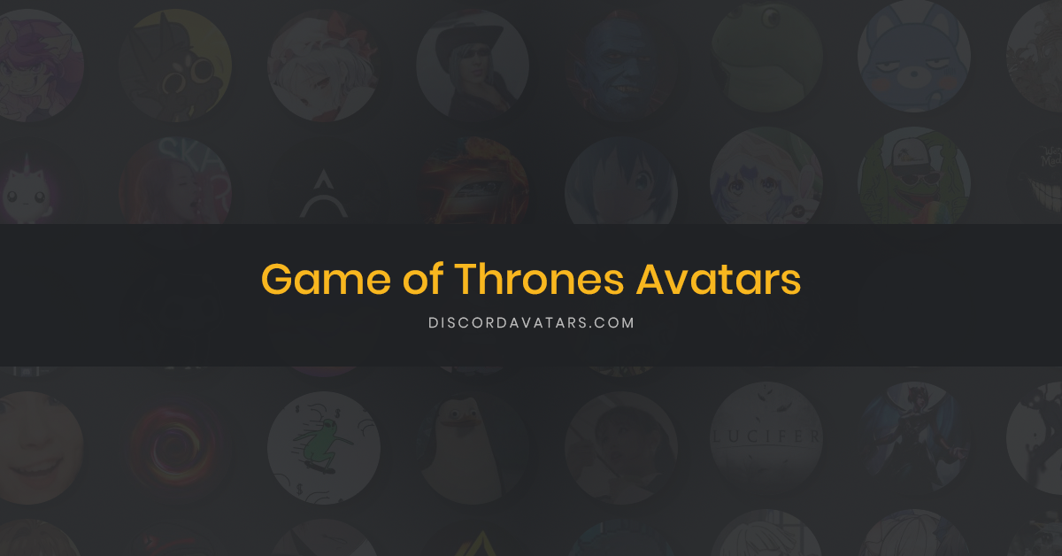 67 Game of Thrones Avatars